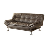 Woonkamermeubels Sofa Modern en comfortabel PU Materiaal Sofe Bed Bruin Red LZ1780A
