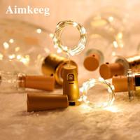2M 20LED Wine Bottle Lights String Fairy Lights Cork Battery Powered Starry DIY String Lights Colorful Glass Bottle Lighting