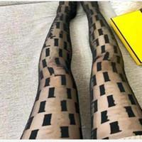 Sexy Mesh Pantyhose para mujer Moda Letter Completo Slim Pretty Black Thes Mights Night Club Medias de fiesta medias elásticas