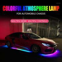 RGB Renkli Esnek Akan Araba LED Işık Underglow Underbody Su Geçirmez Araba Styling Tüp Sistemi Neon Atmosfer Light1