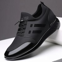2020 Men's Sneakers Quality 6CM Increasing British Shoes New Breathable Summer Casual Sneakers Big Size Office Shoes Men #eC7N