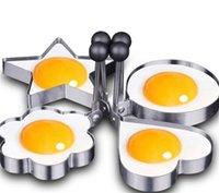 Épaississement Moule en acier inoxydable Five Star pointue Star Loge Coeur En forme de moulin à œufs frit Cuisine Gadget pratique DIY Nouvelle arrivée 1CJ J2