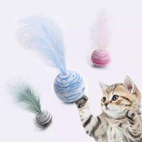 Narin Kedi Oyuncak Yıldız Topları Artı Tüy Yüksek Kalite EVA Malzeme Işık Köpük Topu Fırlatma Komik İnteraktif Peluş Malzemeleri