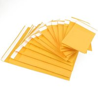 Yellow Kraft Paper Self Seal Stationary Bag Bubble Mailing Bags Window Envelopes Bag Moisture Proof Pouch 10pcs 20pcs 50pcs