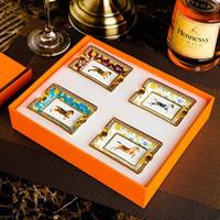 Новая мода керамическая сигарная пепельница роскошь курить асессуары поднос держатель сигар домашний стол стол аксессуары декор