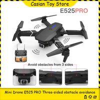 بدون طيار 2021 E525 WiFi FPV بدون طيار مع 4 كيلو واسعة زاوية المزدوجة كاميرا تابع لي هليكوبتر طوي rc quadcopter dron هدية اللعب