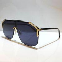 0291s tasarım güneş gözlüğü kadınlar ve erkekler için Unisex Yarım çerçeve kaplama lens 0291 maske popüler güneş gözlüğü karbon fiber bacaklar yaz klasik tarzı