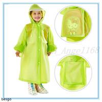 5 cores crianças poncho kids rainwear eva chuva de chuva moda saco de escola com capuz capa de chuva de viagem à chuva de viagem