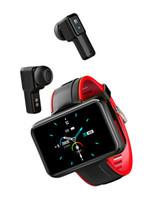 Bracelet SMART Bluetooth sans fil T91 2 en 1 Bluetooth 5,0 écouteurs IP68 IP68 Sports de sport étanche PPG + ECG Fitness Tracking Smart Watch
