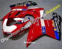 1198S ABS 사용자 정의 페어 링 Ducati 1098 848 1198 2009 2009 2009 2010 년 2010 빨간색 흰색 파란 오토바이 Cowling 키트 (사출 성형)