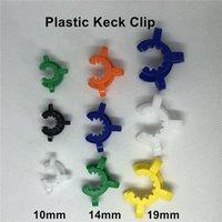 Plastique KECK CLIP 10mm 14mm 19mm Fumeurs Pince colorée Colorfs Bong Clips Verrouillage pour tuyau d'eau Verre Bongs Adaptateur Downsem Rig