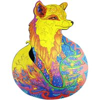 Устройство розыгрыша розыгрыша плоскости для взрослых и детей Fox Puzzle Color Box упаковка