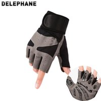 Sport Gym Handschuhe Männer Frauen Atmungsaktive Fingerlose Rutschfeste Schutz Airsoft Shooting Fahren Wandern Rennreiten Motorrad LJ201215