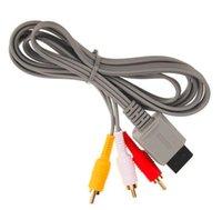 1.8m Ses Video AV Kompozit Wii Kabloları için 3 RCA Kablosu