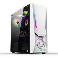 Almohadillas de enfriamiento portátil Alseye Reactor White ITX / M-ATX / ATX USB2.0 * 2 USB3.0 * 1 Tower Gaming Cut Case