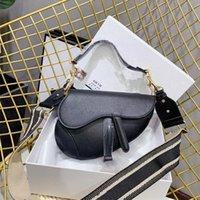 2021 donne di lusso selle nere moda moda borse a tracolla designer borse a tracolla borse da crossbody signora selle borse paillettes lettera D21012701