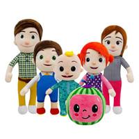 15-33 cm Cocomelon Peluş Oyuncak Karikatür TV Serisi Aile Cocomelon JJ Aile Kardeş Kardeş Anne Ve Baba Oyuncak Dall Çocuklar Chritmas Hediye