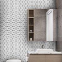 10pcs 욕실 자체 접착 모자이크 타일 스티커 방수 부엌 백스 플래시 벽 스티커 DIY 북유럽 현대 가정 장식
