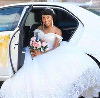 رائع كريستال الديكور فساتين الزفاف 201 الكرة ثوب الدانتيل زائد حجم أثواب الزفاف الديكور ريترو الزواج سيدة اللباس