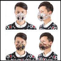 5 색 패션 디자이너 야외 스포츠 훈련 마스크 방진 방진 PM2.5 이동식 실행 활성 탄소 필터 빨 수있는 마스크