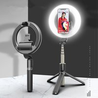 Bague LED Live Light Bluetooth Trépied Selfie Stand Fill Light Pliant Stand Selfie Stick Beauty Light