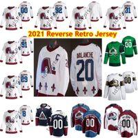 2021 Ters Retro Colorado Avalanche Hokey Jersey 8 Cale Makar Nathan Mackinnon Nikita Zadorov Gabriel Landeskog Mikko Rantanen Erkekler Özel