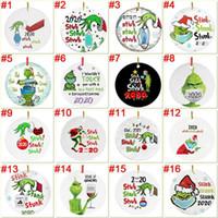 54 Stilleri Grinch El Noel Süs Kişiselleştirin Grinch Süs Noel Karantina Süs Yüz Maskesi Xmas Kolye