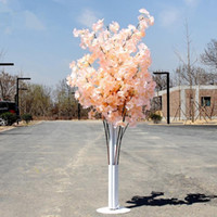 Arbre en fleurs coloré cerisier artificiel colonne romaine Leads Road Mall mariage Opened Props fer art Portes fleurs