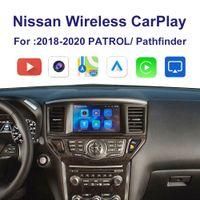 Автомобильный беспроводной интерфейс CarplayAndroid Автоматический адаптер для 2018 года Nissan Patrol Pathfinder Мультимедийный iPhone Android Беспроводной комплект Carlife Karlife