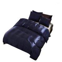CALDO! Set di biancheria da letto in seta in raso puro al 100%, set di letti di casa tessile king size, lenzuola, copripiumino piumino foglio pillowcases all'ingrosso1