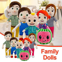 15-33cm Cocomelon Peluche Toy Soft Dessin animé Famille Cocomélon JJ Family Sœur Brother Maman et Dad Dall Dall Dall De Chritmas Cadeaux DHL