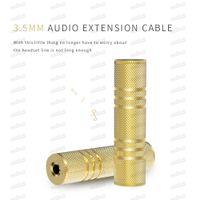 3.5mm 여성 ~ 3.5mm 여성 오디오 어댑터 커플러 잭 커넥터 가입을위한 2 개의 Aux 케이블 100pcs 무료 DHL
