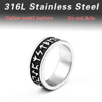 Beier 316L Stainless Steel nose viking Amulet rune words Odin 's Symbol for men scandinavian wholesale ring jewelry BR8-5951
