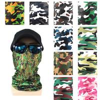 3D impresso camuflagem cachecol mágico máscara sem emenda lenço lenço máscara máscara máscara decorações de natal ia907