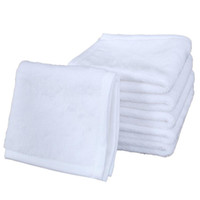 فارغة التسامي منشفة البوليستر القطن 30 * 30 سنتيمتر منشفة فارغة أبيض مربع منشفة diy الطباعة المنزل المناشف المناشف ناحية لينة