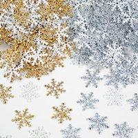 270 шт. 2 см Золотая серебряная Снежинка Confetti Рождественские Украшения для дома Искусственный снег Рождественские Новый год Декор Стол-орнамент
