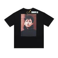 21SS Europa Hip Hop Personagem Cool Photo KH20 3M Reflexivo T Camiseta Skates Loose Tshirt Homens Mulheres Algodão de Manga Curta Tee
