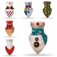 Noel Yüz Kalkanı Bandana Yüz Maskesi Açık Spor Bandana Maskesi Sihirli Başörtüsü Kafa Vizör Boyun Gaiter Noel Dekorasyon YHM280-1