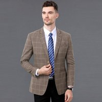 Autumn And Winter Suits Middle- aged Men' s Wool Jacket T...
