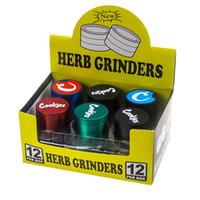Cookies Grinder Califórnia SF Vape Embalagem 4 Camadas Liga de Zinco Rainbow Herb Moedores 40 * 35mm Acessórios de tabaco com caixa de varejo FY2457