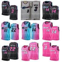 2021 Männer Männer Dwyane 3 Wade Jerseys Jimmy 22 Butler Tyler 14 Herro Kendrick 25 Nunn Basketball Jersey