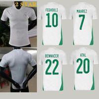 Thai Kalite 21 22 Afrika Kupası Cezayir Futbol Forması Mahrez Feghouli Slimani Futbol Gömlek 2021 Brahimi Maillot de Foot
