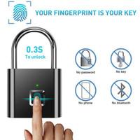 100pcs Fingerprint Padlock Quick Unlock Smart Fingerprint Lock USB Rechargeable Security Metal Padlock Luggage lock for home1