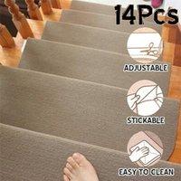 14 teile / satz selbstklebende Treppenpolster Anti-Rutsch-Teppiche Sicherheits-Mute-Fußmatten wiederholt Sicherheits-Pads Mat für Heimtreppe1