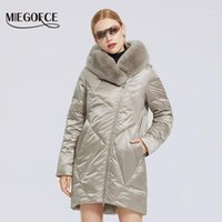 Miegofce 2020 inverno novo casaco de algodão feminino com elegante colar de pele rex jaqueta longa inverno mulheres parkas windproof jaqueta1