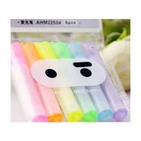 6 pz / lotto carino kawaii mini highlighter creativo bella cartone animato ninja coniglio gel penna per bambini cancelleria coreana don jllotr bdebag