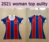 20 21 Frau ESPORTE Clube Bahia Fussball Jersey 2020 Mädchen Lady Soccer Hemd # 20 Daniel # 27 Jadson Customized Bahia Football Uniform