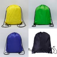 Tarnkordelzug Tasche beide Schultern Lager Nylon draußen Basketballbag Polyester Mens Feste Farbe Bündel Tasche Hohe Qualität1 6FM M2