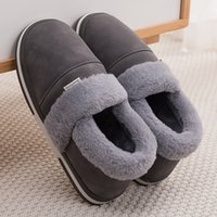 Invierno Mujer Plataforma Velvet Ladies Impermeable Flock Warm Home Slippers Soft Cómodo Zapatos 201203