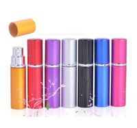 5ml mini spray frasco de perfume frasco recarregável recipiente cosmético cosmético frasco de óleo essencial atomizador de alumínio frascos recarregáveis